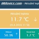 Post Thumbnail of Aktuální teplota